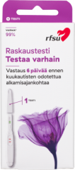 RFSU Raskaustesti puikko X1 KPL