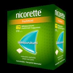 NICORETTE FRUITMINT 4 mg lääkepurukumi 210 fol