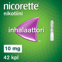 NICORETTE INHALAATTORI 10 mg inhal höyry, kyllästetty patruuna (inhalaattori)42 fol